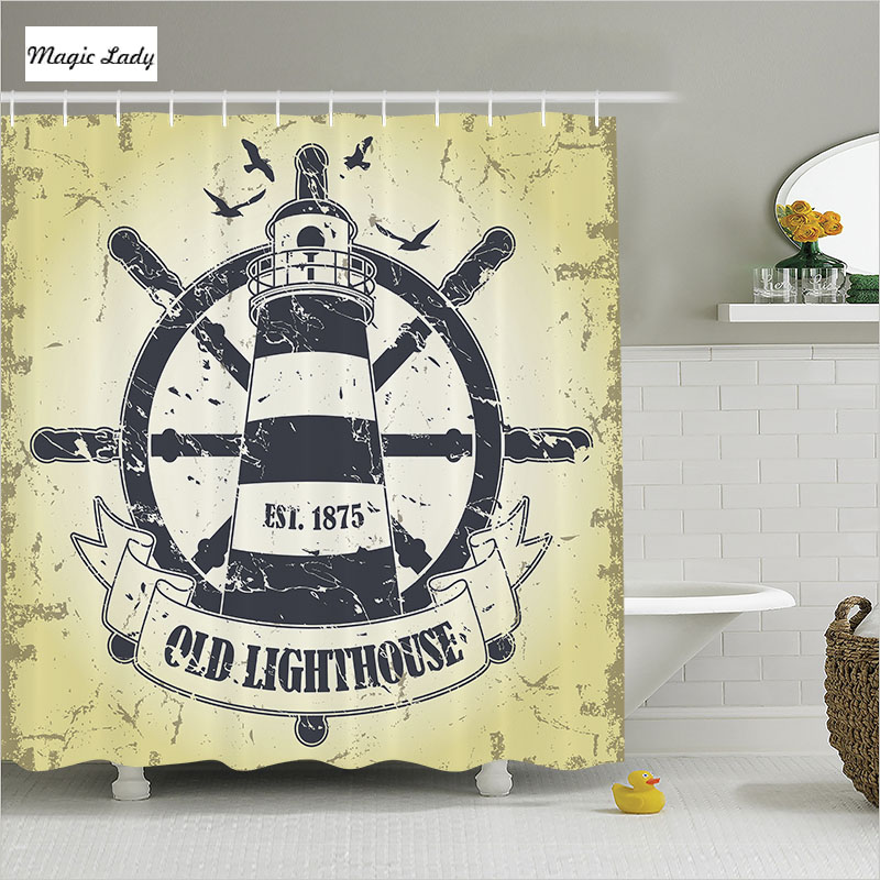 Shower curtain bathroom accessories the navy naval for Navy bath accessories
