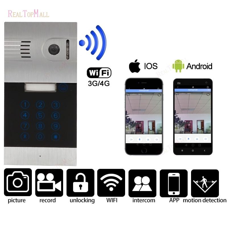 Wireless Wifi Remote Control IP Video Door Phones Wireless IP Intercom System Home Access Door Camera Doorbell phone