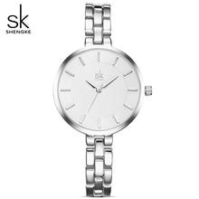 SK Feminino New Rosa de Ouro/Prata Pulseira de Relógio de Quartzo Mulheres Relógios De Pulso Senhoras Relógio Fishion 30 M À Prova D' Água Relógios Presente