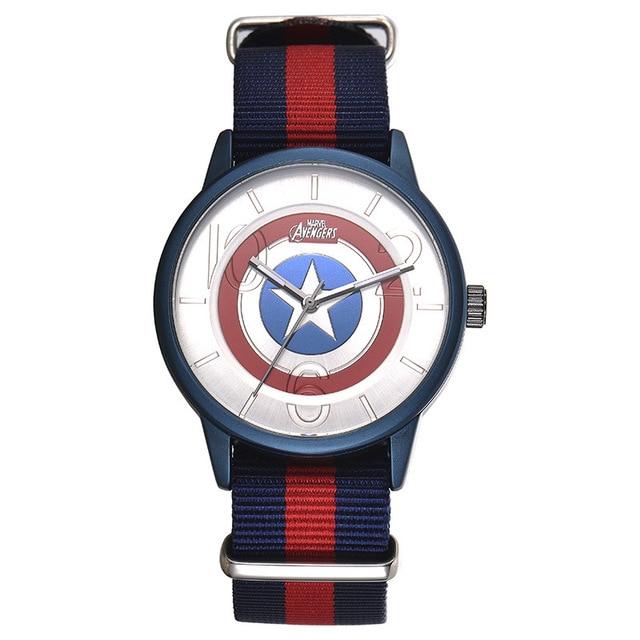 Disney brand fashion children watches Captain America shield cartoon students bo