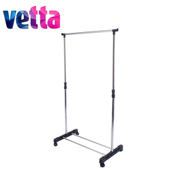 hot sale one-level standing clothes drying rack metal floor hanger cheap and high quality