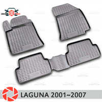 Floor mats for Renault Laguna 2001~2007 rugs non slip polyurethane dirt protection interior car styling accessories