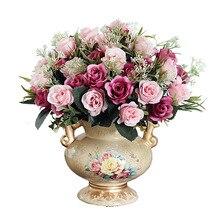 Gold Para Casa Decoration Home Jarrones Decorativos Moderno Vaso De Flor Teraryum Flower Vase