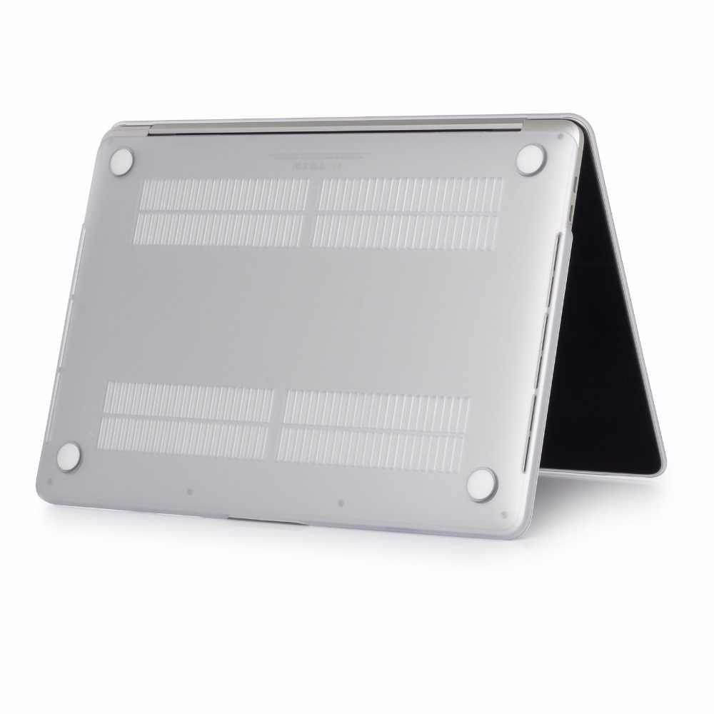 """つや消しクリアゴム硬質ケースカバースキンセットアップルの Macbook Pro の空気網膜 11 12 13 15 """"インチタッチバー"""