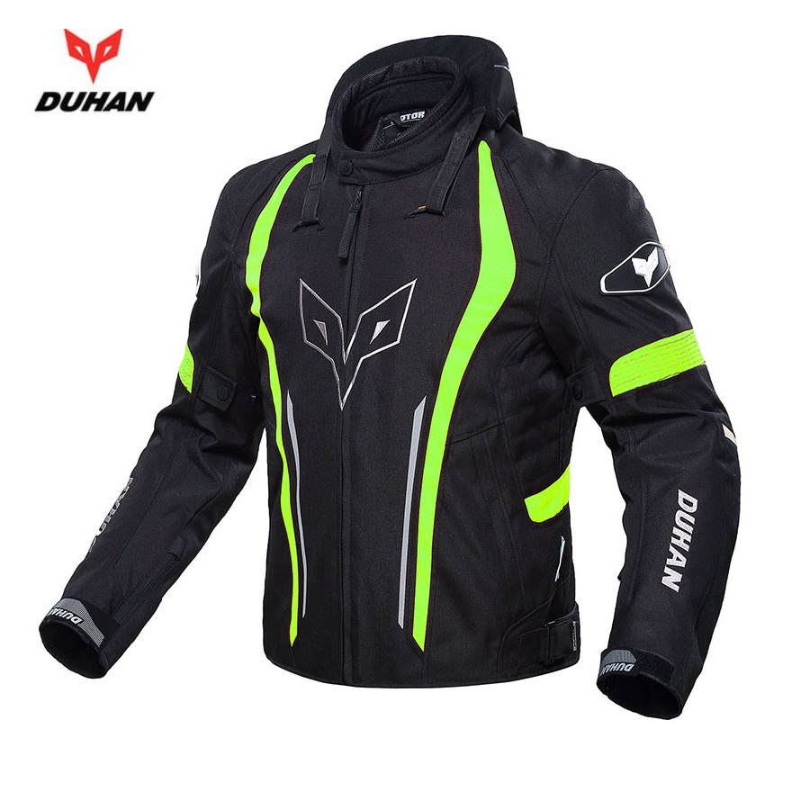 Free shipping 1pcs DUHAN Autumn Winter Body Armor Neck Protective Motocross Racing Waterproof Motorcycle Jacket With 5pcs Pads