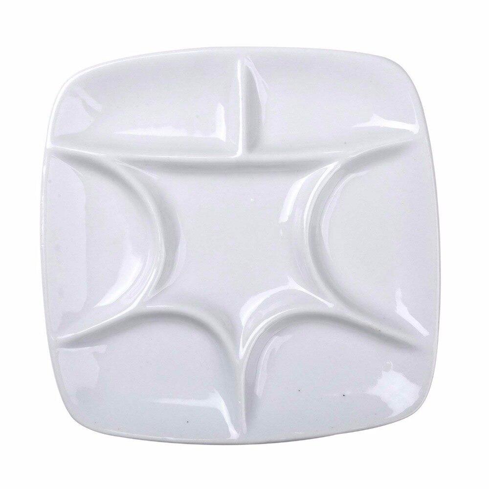 MEEDEN 7-hole  palette high quality acrylic gouache watercolor palette ceramic palette watercolor palette school