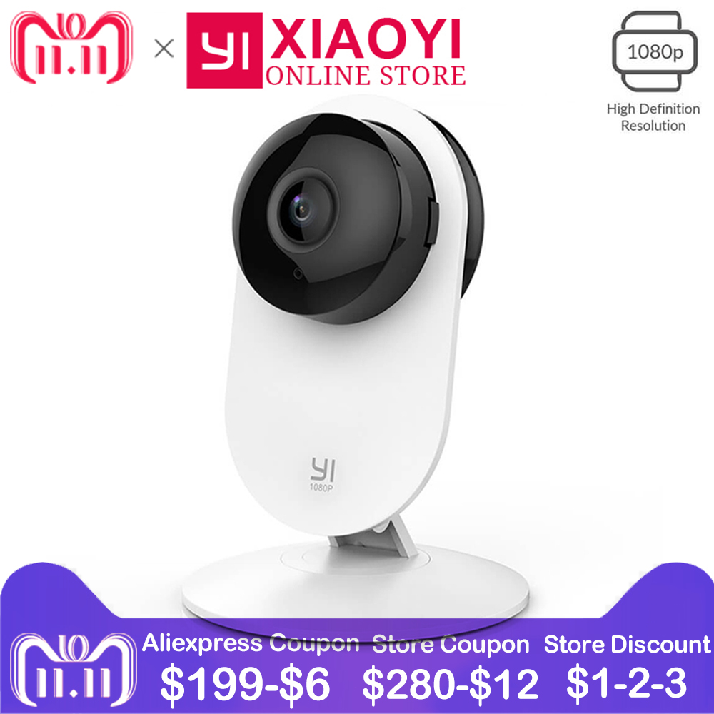 [Internation Edition]YI 1080p Home Camera Wireless WIFI IP Camera Xiaomi YI Security Mini Surveillance System 3D Noise Reduction xiaomi yi basic edition черный
