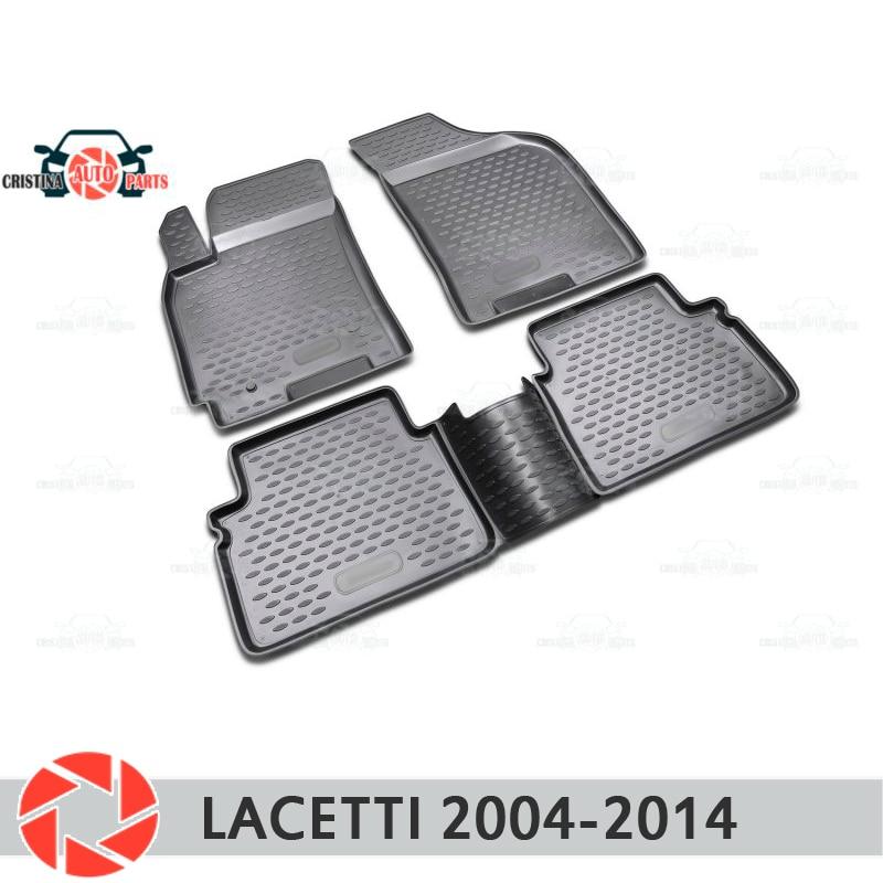 Alfombrillas de suelo para Chevrolet Lacetti 2004-2014 alfombras antideslizantes de poliuretano protección de suciedad interior de coche accesorios de diseño