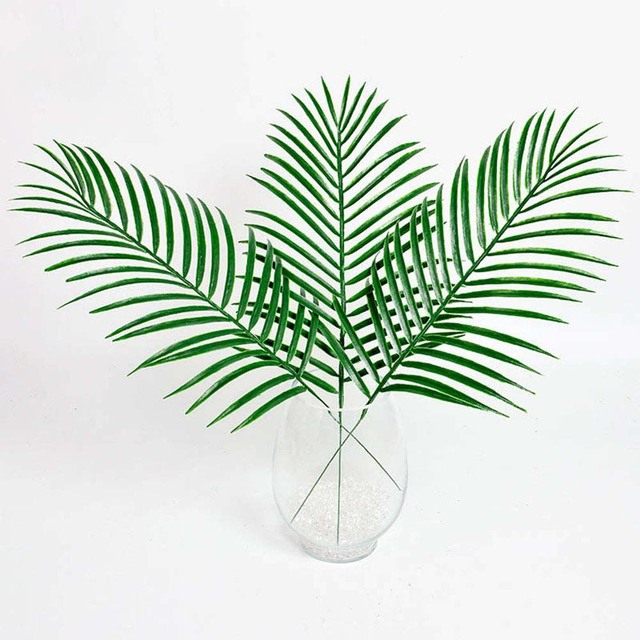 new artificial kwai leaf branch fake palm plants plastic grass