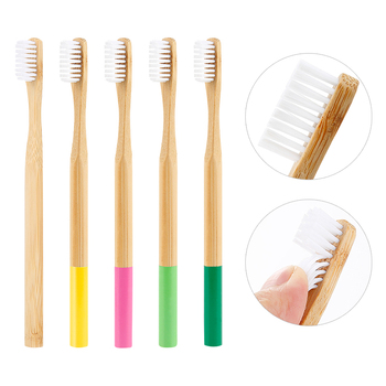 5pcs Eco-friendly Adult Natural Bamboo Soft Head Toothbrush