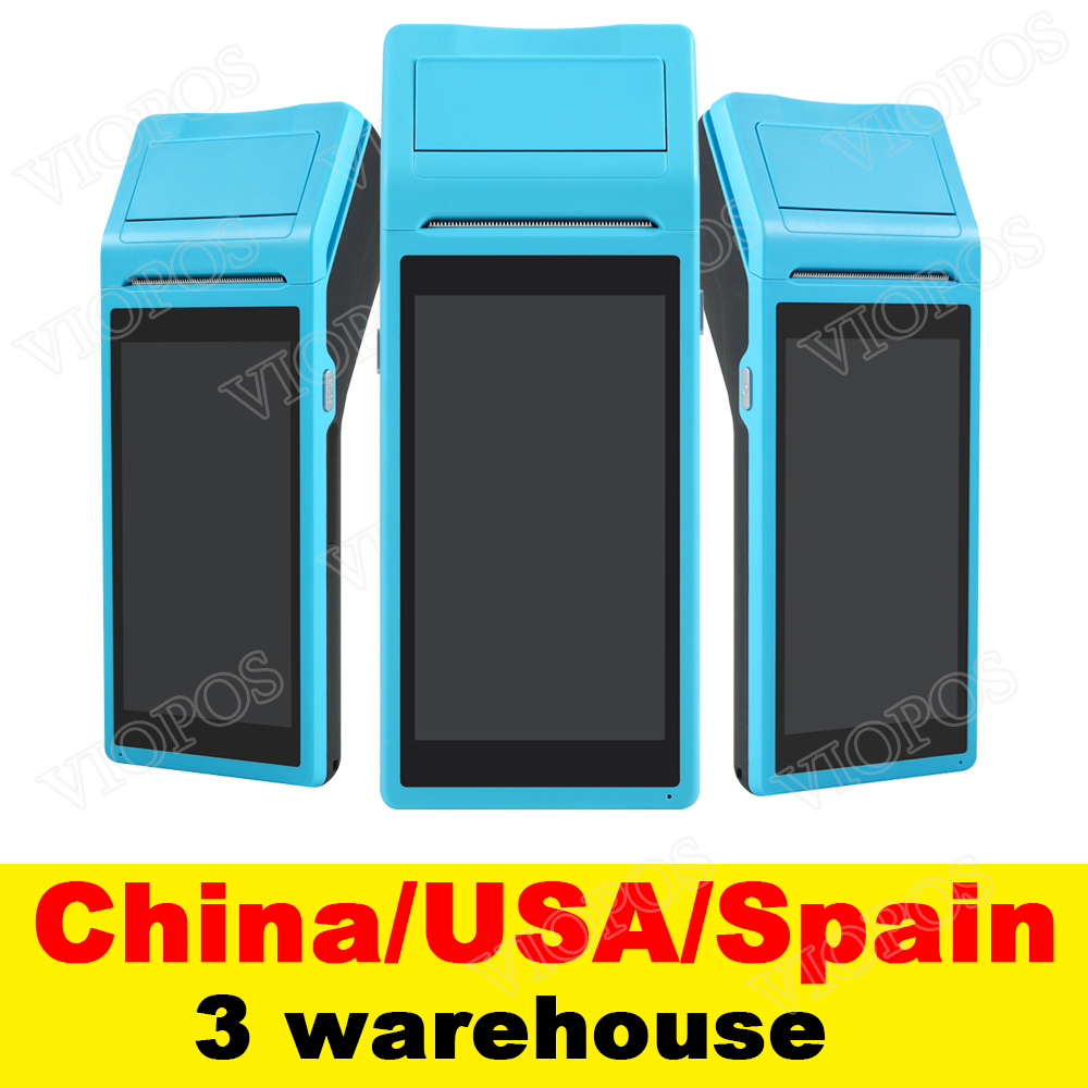 V1 POS Terminal PDA With Wireless Bluetooth Wifi Android System with Thermal Printer Built in and