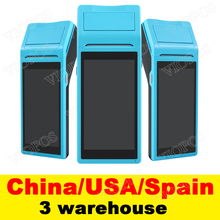 V1 pos-терминал PDA с беспроводной Bluetooth и Wifi системой Android с термопринтером Встроенный и сканер штрих-кодов