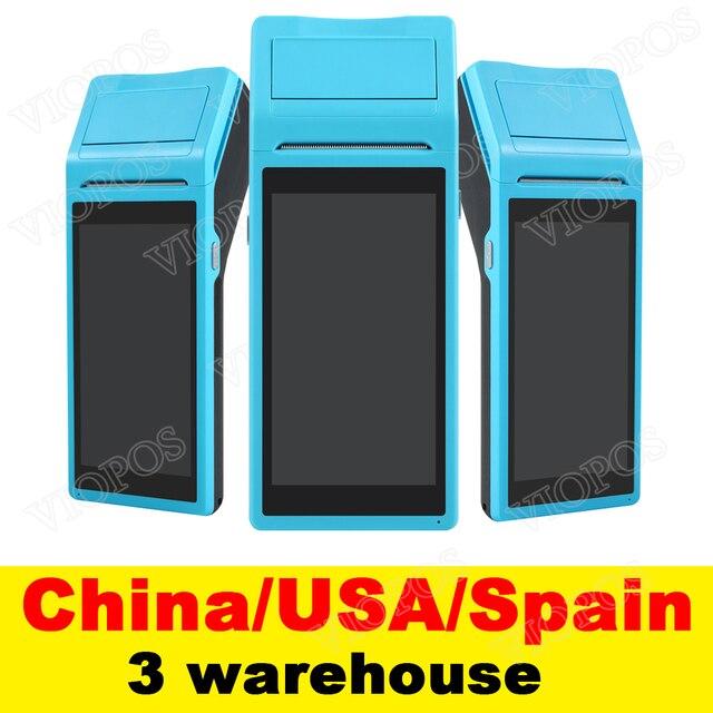 V1 POS Terminal PDA con sistema Android inalámbrico Bluetooth y Wifi con impresora térmica incorporada y escáner de código de barras