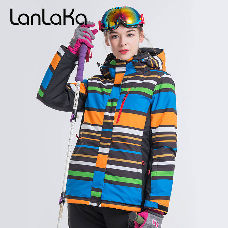 2018 LANLAKA Women Ski Jacket Hooded Snowboard Clothing Super Warm Windproof Waterproof Outdoor Sport Wear Female Clothing Coat lurker shark skin soft shell v4 military tactical jacket men waterproof windproof warm coat camouflage hooded camo army clothing