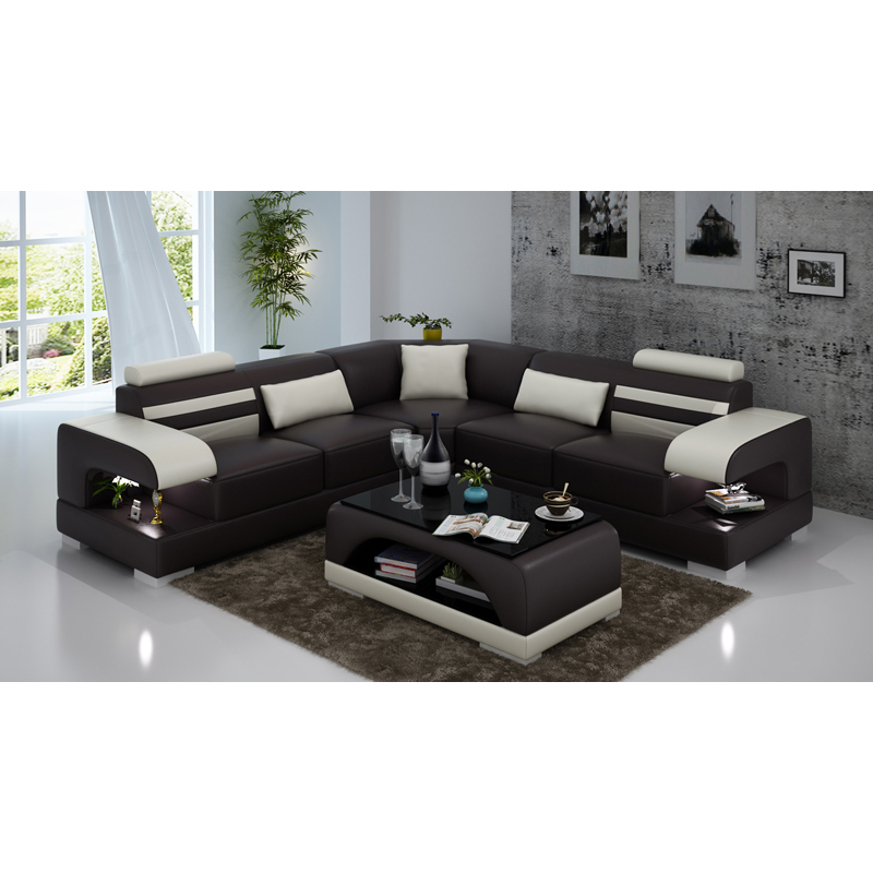 Dark Brown 7 Seater Sectional Sofa Set