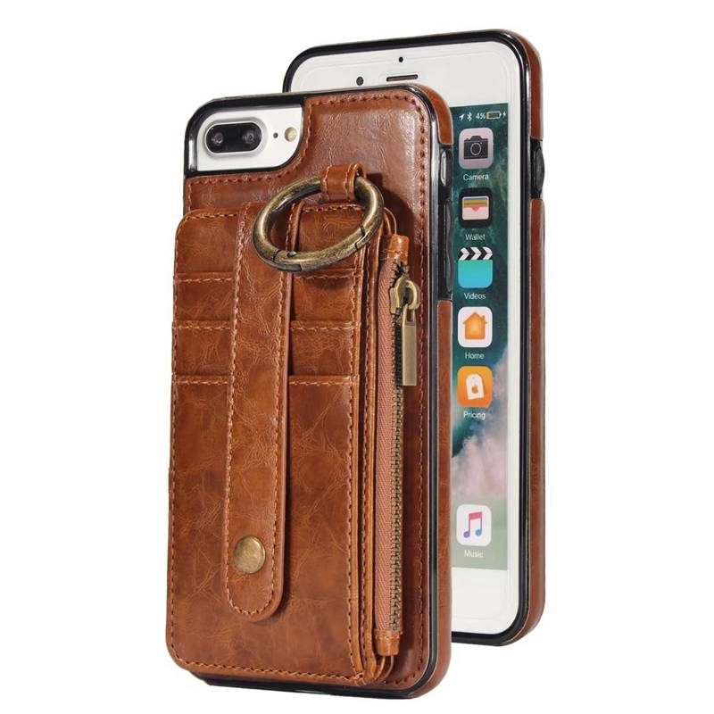 Retro Split Kickstand Leather Case for iPhone 7 7 Plus 6 6S Plus Wallet Phone Cases Card Slot Cover for iPhone X 8 8 Plus, S7 S8