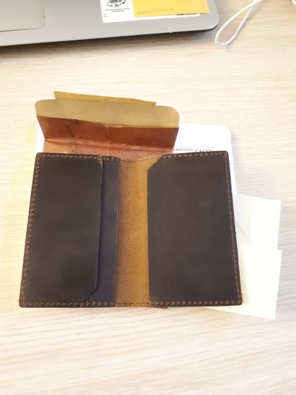 Fashion Bifold Genuine Leather Men Credit Card Wallet Driver License Holder Top Layer Real Cow Leather Men Card Holder Wallet photo review