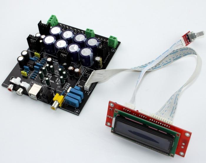 Assemble AK4490+AK4118 Soft Control Audio DAC Decoder Board Fiber optic, Coaxial Input DAC (Does not include USB daughter card)