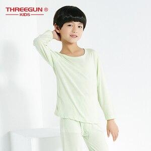 THREEGUN/2 предмета, детское термобелье для мальчиков, Детские подштанники с длинными рукавами, теплые мягкие детские топы и штаны, комплект
