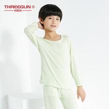 THREEGUN 2 Pcs Children's Thermal Underwears For Boys Long Sleeves Children