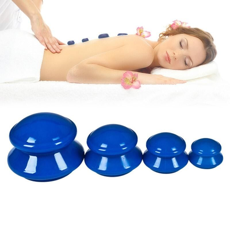 Cupping Can Therapy Massage Sets - Silicone Vacuum Suction Cupping Cups For Face, Muscle And Joint Pain Cellulite