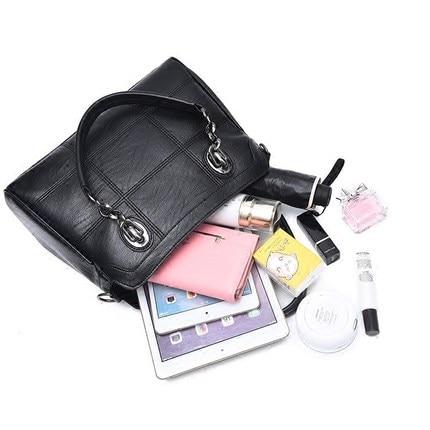 Fashion ladies handbag Ladies leather handbag Black leather handbag Ladies shoulder bag цена 2017