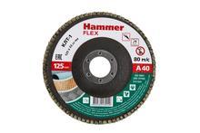 125 Х 22 Р 40 тип 1 КЛТ Hammer Flex 213-007 Круг лепестковый торцевой