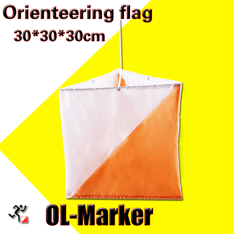 Outdoor Orienteering Ol-marker Flag/control Flag Directional Cross-country Race Banner 30X30cm For Orienteering