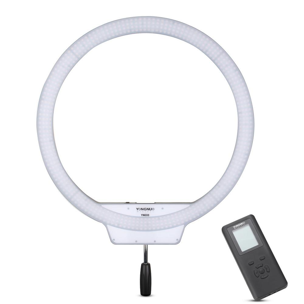 YONGNUO YN608 608PCS LED Photographic Camera Ring Video Light Digital Self Ring Video Lamp Lighting Handled