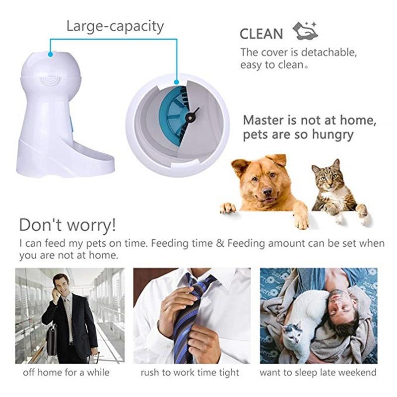 Iseebiz 3L Automatic Pet Food Feeder With Voice Recording Pet food Bowl For Medium Dog Cat