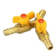 UXCELL Clamping Collet Clamping Nuts 3 Way Brass Shut Off Ball Valve Fitting Connector Rubber Hose Barb Adapter 3 Types tools стоимость