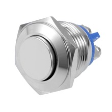 UXCELL 1 PCS Momentary Switch Stainless Steel Push Button 16mm Mounting Diameter 5A 2 Screw Terminals Accessories