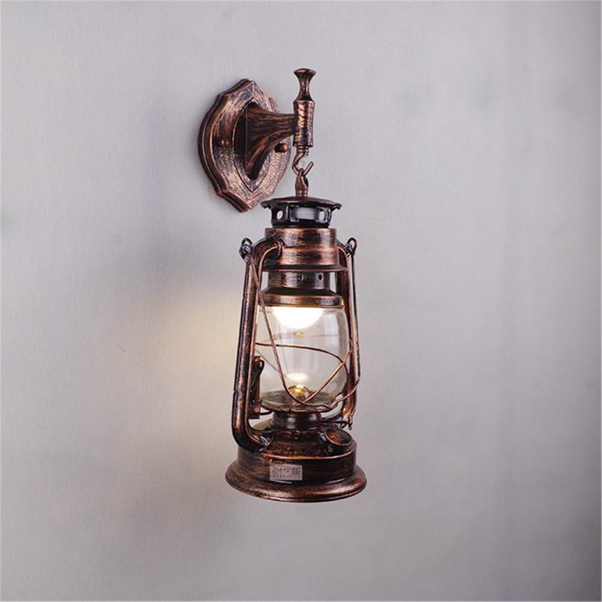 4 Style Metal & Glass Wall Light Sconce Holder Vintage Night Lamp Fixture Dining Hall Bar Club Coffee Shop Restaurant Home Decor edison vintage style e27 copper screw rotary switch lamp holder cafe bar coffee shop store hall club