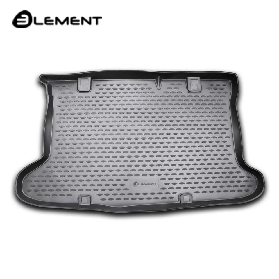 For Hyundai Solaris Hatchback 2011-2016 car trunk mat Element NLC2045B11 car trunk mat for daewoo nexia 1995 2016 element nlc1105b10