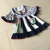 Distinctive Bib Short Sleeves Style 100 Cotton Summer And Baby Girls Dress Apparel Accessory For Kids