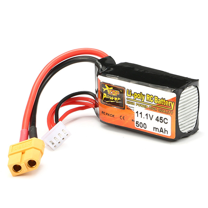 2018 ZOP Power 11.1V 500mAh <font><b>45C</b></font> 3S Reachargeable Lipo <font><b>Battery</b></font> XT60 Plug Connector For RC Drones FPV Quadcopter Toys DIY Charging
