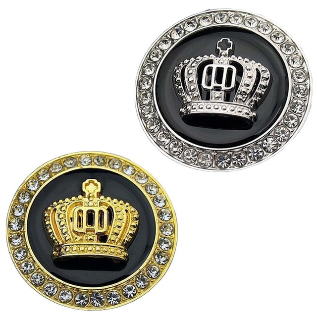 Hot 3d Metal Crown Diamond Car Styling Decoration Stickers Auto
