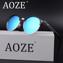 New AOZE polarized men fashion Lady retro sunglasses women top quality driving