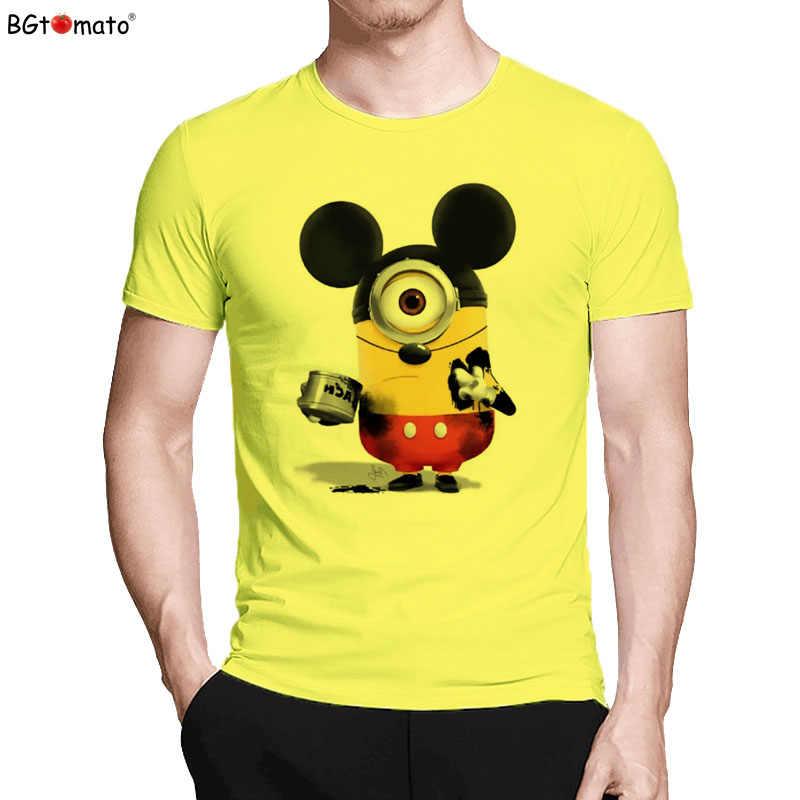 BGtomato camiseta Super cute Mickey minions engraçado camisetas estilo Criativo venda quente t-shirt dos homens de verão fresco dos desenhos animados anime camisa de t
