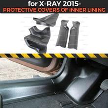 Lada X Ray 2015 용 보호 커버 내부 라이닝 ABS 플라스틱 트림 액세서리 카펫 카 스타일링 보호