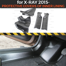 Protective covers for Lada X Ray 2015  of inner lining ABS plastic trim accessories protection of carpet car styling