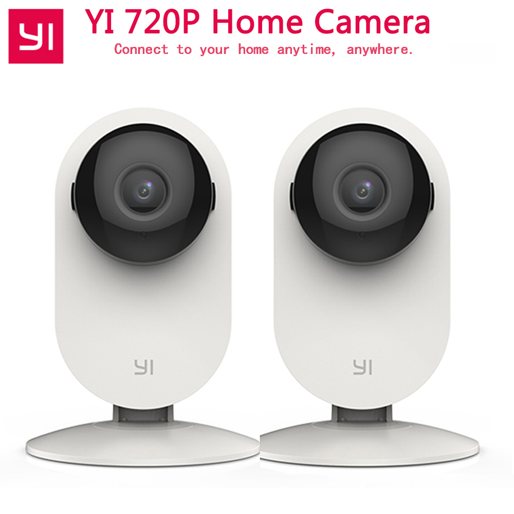 YI 720 p Accueil Caméra 2 pcs Nuit Vision Caméra IP Baby Monitor Wifi Réseau de Surveillance xiaomi xiaoyi de Sécurité Intérieure caméra
