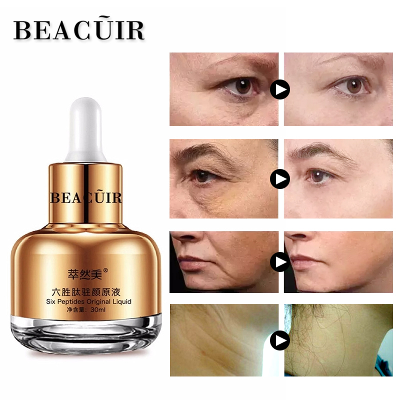 BEACUIR 100% Collage Argireline Liquide Sérum Anti-Rides Anti-Vieillissement Défaut Crème Soins de La Peau Acide Hyaluronique Sérum Essence 30g