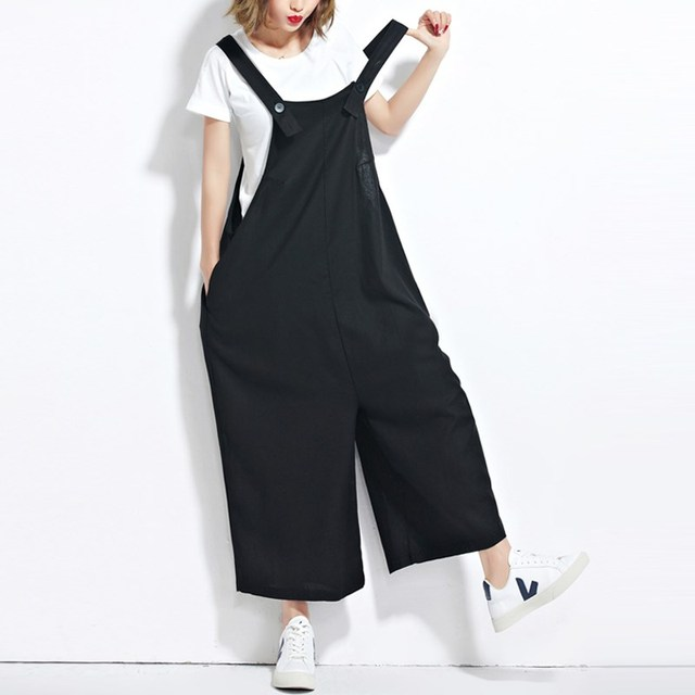 a9c935f9eaa ZANZEA Women Strappy Wide Leg Dungaree Baggy Jumpsuits Overalls Fashion Sleeveless  Casual Loose Harem Long Pants Trousers
