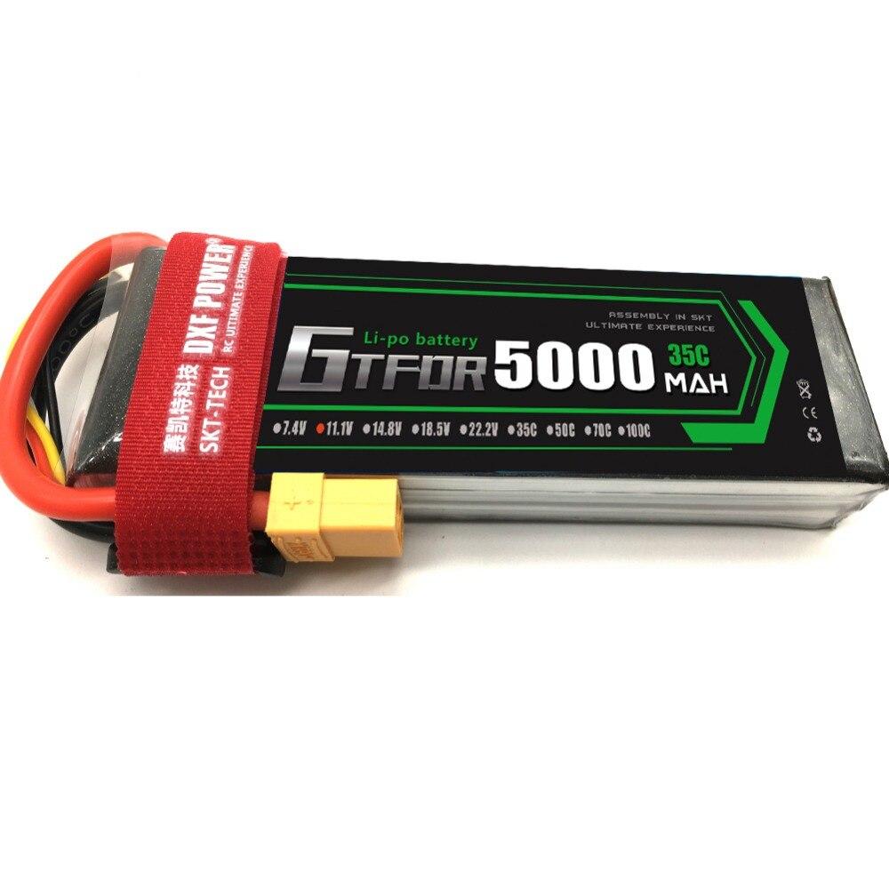 GTFDR batterie Lipo 3 S 11.1 V 5000 mAh 35C pour télécommande jouets RC hélicoptère Drone quadrirotor avion voiture bateau camion