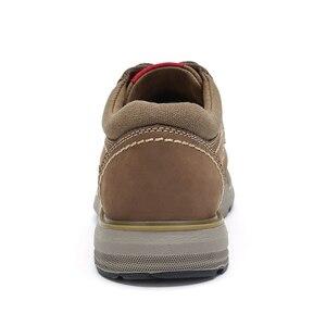 Image 3 - CAMELใหม่ของแท้หนังรองเท้ารองเท้าผู้ชายแฟชั่นกลางแจ้งรองเท้าCowhide Rhubarbรองเท้าManเย็บคุณภาพรองเท้า
