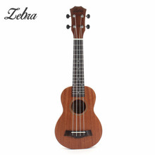 "Zebra 21"" 15 Frets Mahogany Soprano Ukulele Uke 4 Strings Electric Bass Guitar Guitarra For Musical Stringed Instruments"