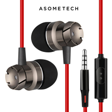 EM3 Metal Earphones Stereo Earpieces Super Bass Headset Sport Running Handsfree Noise Reduction Earbuds With Mic For iPhone 5 6S