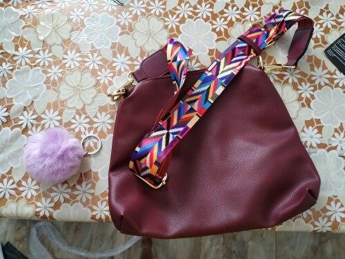 LostSoul mode brede schouderriem voor tas kleurrijke riem Geometrisch patroon geweven schouderriem voor messenger bags accessorie photo review