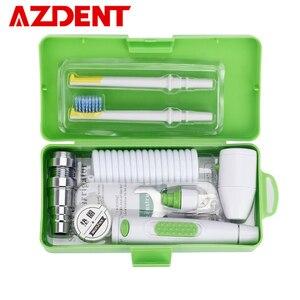 Image 1 - AZDENT New Portable Oral Irrigator Water Faucet Dental Flosser Removeable Floss Irrigation Brush Head Sprinkler Box 2 Jet Tips